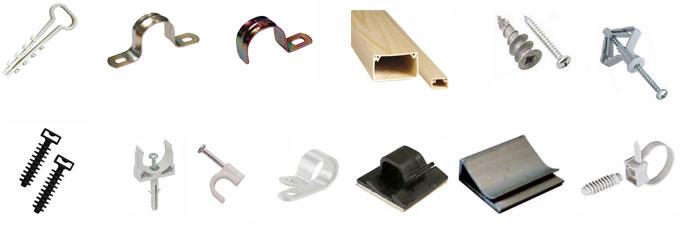 Виды крепления кабеля
